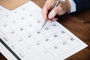start date for Making Tax Digital - calendar