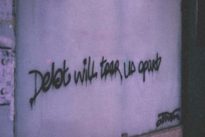 breathing space scheme - debt graffiti