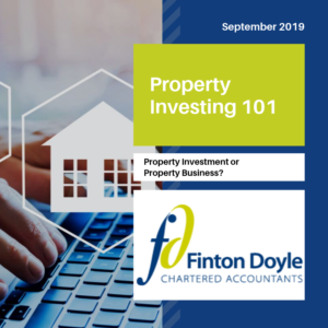 property investment or property business